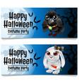 two horizontal cards on theme halloween vector image vector image