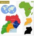 Uganda map vector image vector image