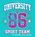 university sport team vector image vector image