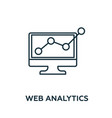 web analytics icon symbol creative sign from vector image