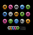 web developer icons - gelcolor series vector image vector image