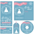 Wedding invitationsWinter Bridal shower set vector image vector image