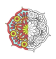 Zentangle stylized elegant color arabic Mandala vector image vector image