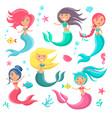 beautiful mermaids icon vector image