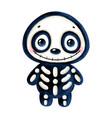 a cute cartoon halloween smiling skeleton vector image