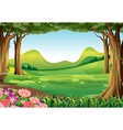 A green forest vector image vector image