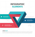 abstract colorful triangle business infographics vector image