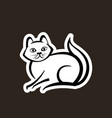 abstract icon of a cat vector image vector image