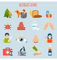 Allergies Icon Set vector image vector image