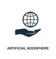 artificial noosphere icon creative element design vector image