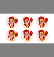 avatar woman comic emotions beautiful vector image
