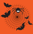 black and orange cartoon isolated spider vector image