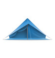 blue tourist tent vector image vector image