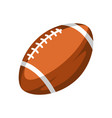brown rugby ball vector image vector image