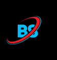 bs b s letter logo design initial letter bs vector image vector image