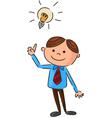 Cartoon of a young man full ideas vector image vector image