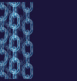 chain links wallpaper vector image vector image