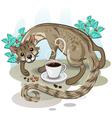 Civet Coffee Kopi Luwak vector image vector image