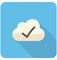 Cloud check icon vector image vector image