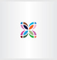 colorful leaf logo business icon symbol sign vector image vector image