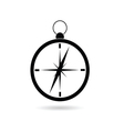 compass black silhouette vector image vector image