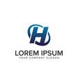 creative modern letter h logo design concept vector image vector image