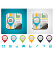customizable map location icon vector image vector image
