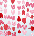 Cute hearts hang in the sky valentines day concept vector image vector image