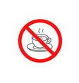 do use hot drinks sign isolated on white vector image