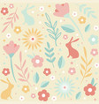 easter seamless patterns spring pattern for vector image