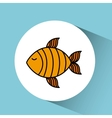 fish isolated design vector image