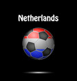 flag of netherlands in the form of a soccer ball vector image