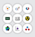 flat icon knowledge set of nuclear irradiation vector image vector image
