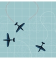 Flying planes vector image