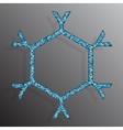 Frame Blue Sequins Snowflake Glitter Sparkle vector image vector image