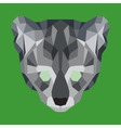 Gray low poly ocelot vector image vector image