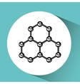hand holding molecule research vector image
