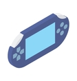 Handheld game console icon isometric 3d style vector image