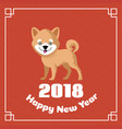 happy chinese new year 2018 greeting vector image vector image