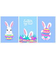happy easter a set greeting designs with vector image vector image