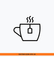icon tea cup design concept of tea icon editable vector image