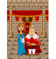 king and queen vector image vector image