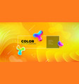liquid color background design yellow fluid vector image vector image