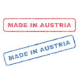 made in austria textile stamps vector image vector image