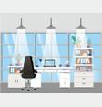 modern office boss scene vector image