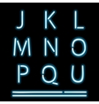 Neon Light Alphabet 2 vector image vector image