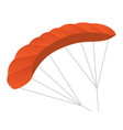 paraglider cartoon vector image
