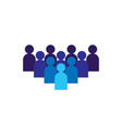 people icon business corporate team working vector image vector image