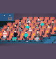 people in protective masks watching movie keeping vector image vector image