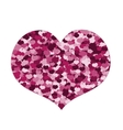 Pink Heart made of Hearts on White Background for vector image vector image